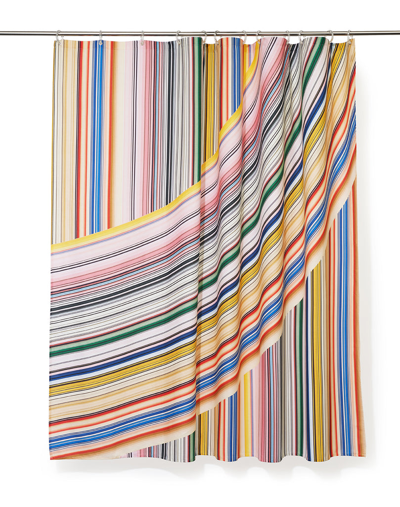 Rainbow Artist Cotton Shower Curtain ( Waterproof ) by Michele Rondelli