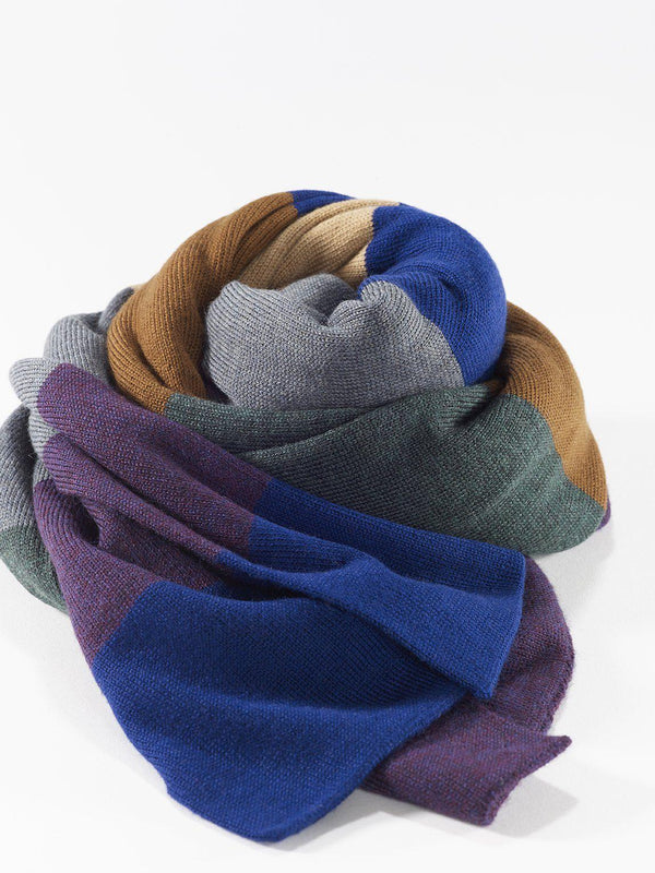 ZigZagZurich Merino Wool Scarves - Extra Fine Striped Merino Wool Scarves - Col. One