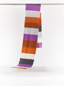ZigZagZurich Merino Wool Scarves - Extra Fine Striped Merino Wool Scarves - Col. Six