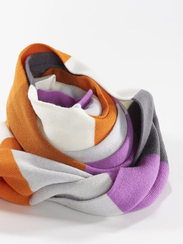 ZigZagZurich Merino Wool Scarves - Extra Fine Striped Merino Wool Scarves - Col. Six 6