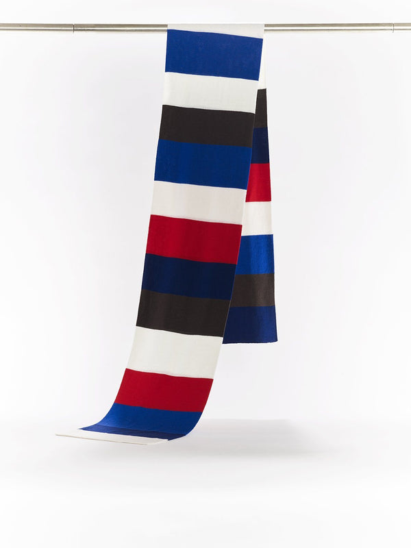 ZigZagZurich Merino Wool Scarves - Extra Fine Striped Merino Wool Scarves - Col. Three