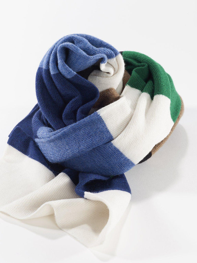 ZigZagZurich Merino Wool Scarves - Extra Fine Striped Merino Wool Scarves - Col. Two