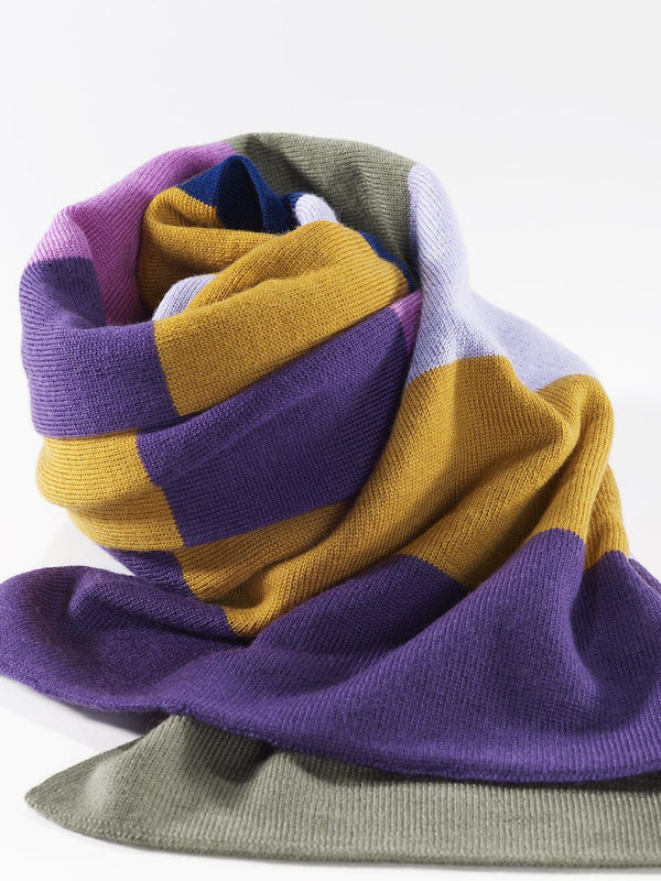 ZigZagZurich Merino Wool Scarves - Extra Fine Striped Merino Wool Scarves - Col. five 5