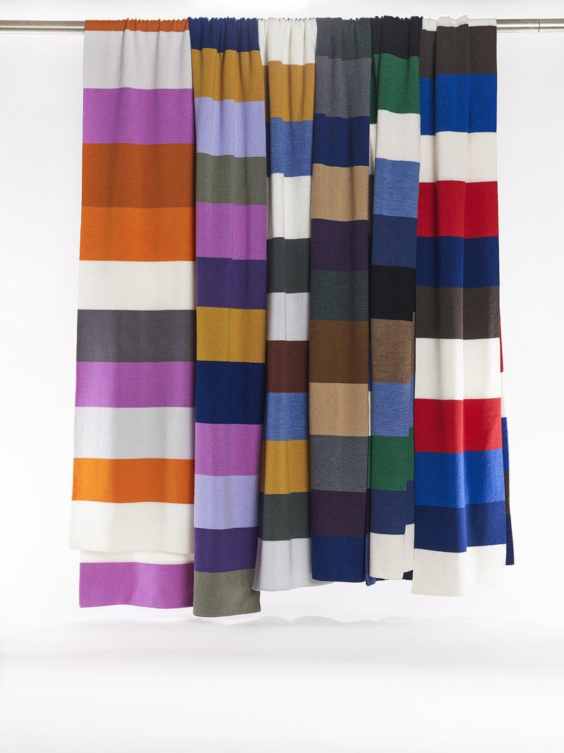 ZigZagZurich Merino Wool Scarves - Extra Fine Striped Merino Wool Scarves - Col. Five
