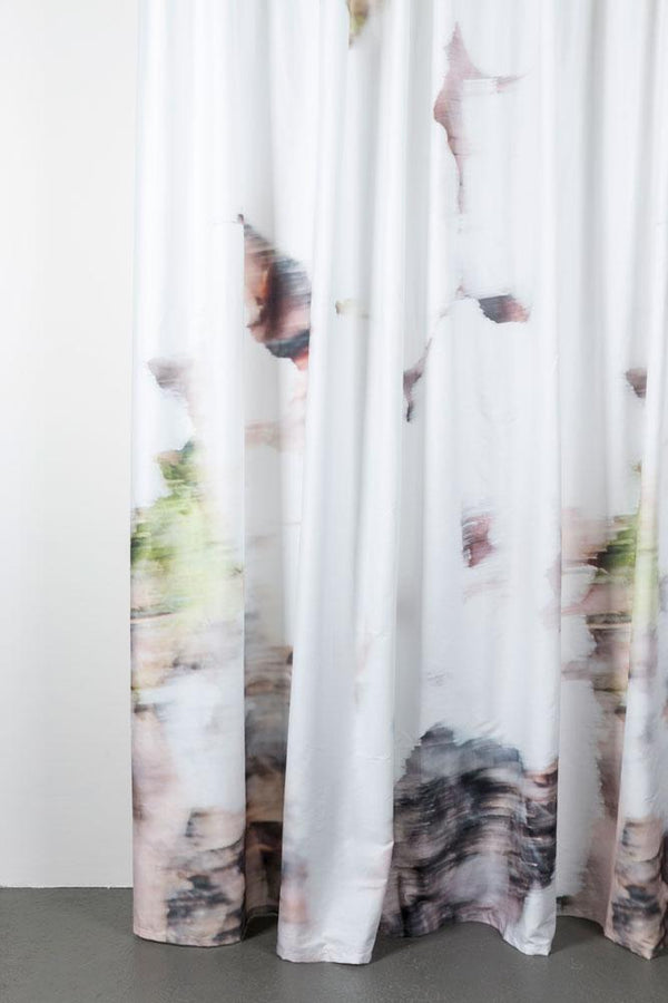 "Artist Cotton Curtains - November Morning Artist Cotton Curtains 300cm /118""Wide By Nora Ludin"