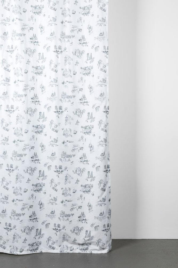 "Artist Cotton Curtains - Toile De Suisse Artist Cotton Curtains 300cm /118""Wide By Celine Cornu"