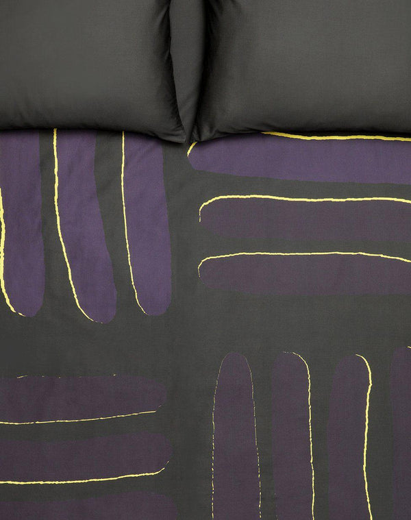 Artist & Designer Bedding Collection - Panama Col. Yellow/purple - Artist Duvet Covers And Pillows By Michele Rondelli