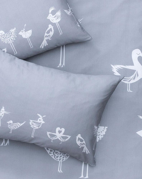 The Lovebirds Artist Duvet Covers and Pillows by Natalie Born - ZigZagZurich  - 1