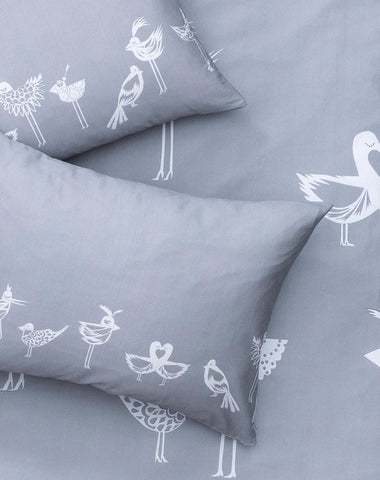 The Lovebirds Artist Duvet Covers and Pillows by Natalie Born