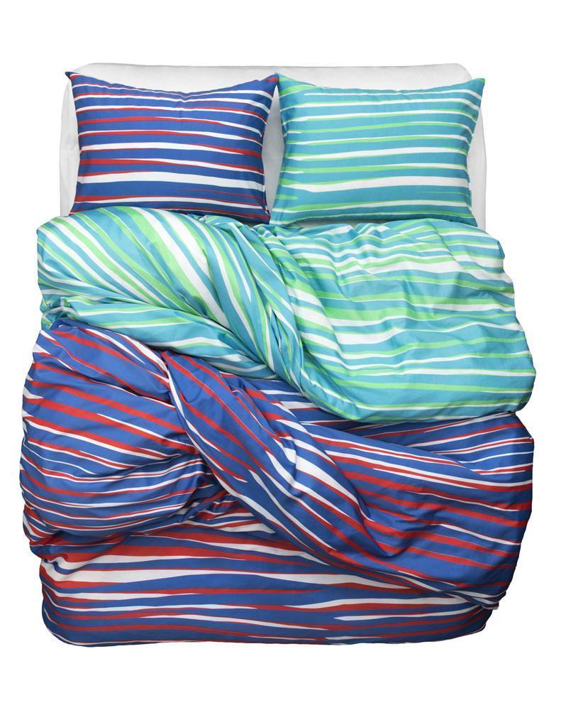 Artist & Designer Bedding Collection - Tiger Love Artist Duvet Covers And Pillows By Sunny Todd Prints - Blue / Red