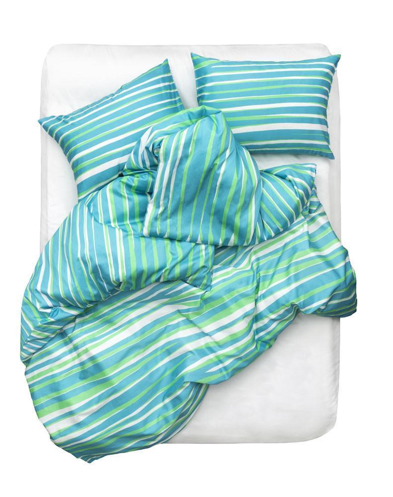 Artist & Designer Bedding Collection - Tiger Love Artist Duvet Covers And Pillows By Sunny Todd Prints - Green / Blue