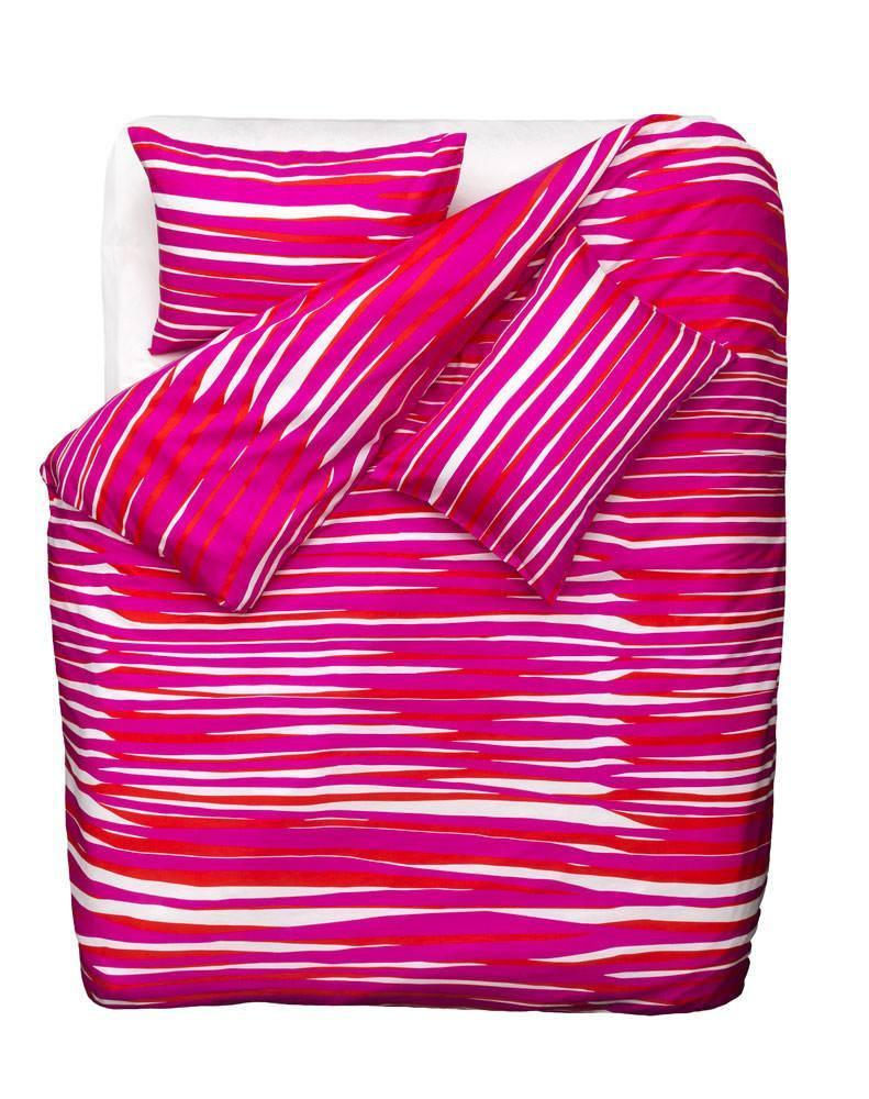 Artist & Designer Bedding Collection - Tiger Love Artist Duvet Covers And Pillows By Sunny Todd Prints - Pink / Red