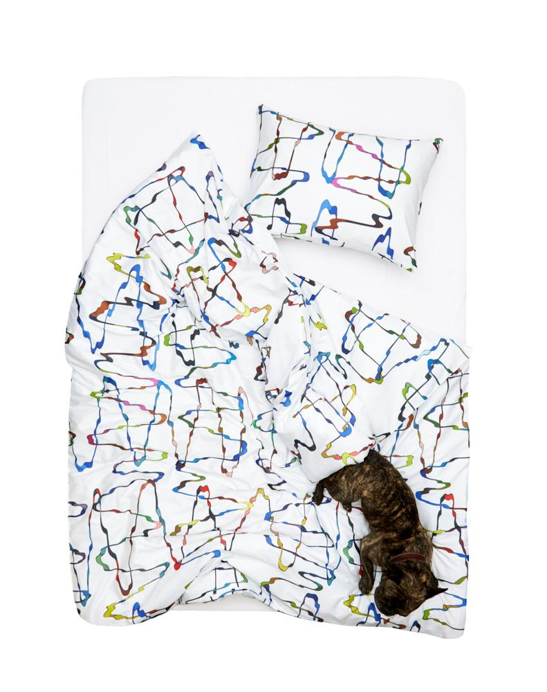 ZigZagZurich Artist & Designer Bedding Collection - Waves Artist Duvet Covers And Pillows By Roland Schär