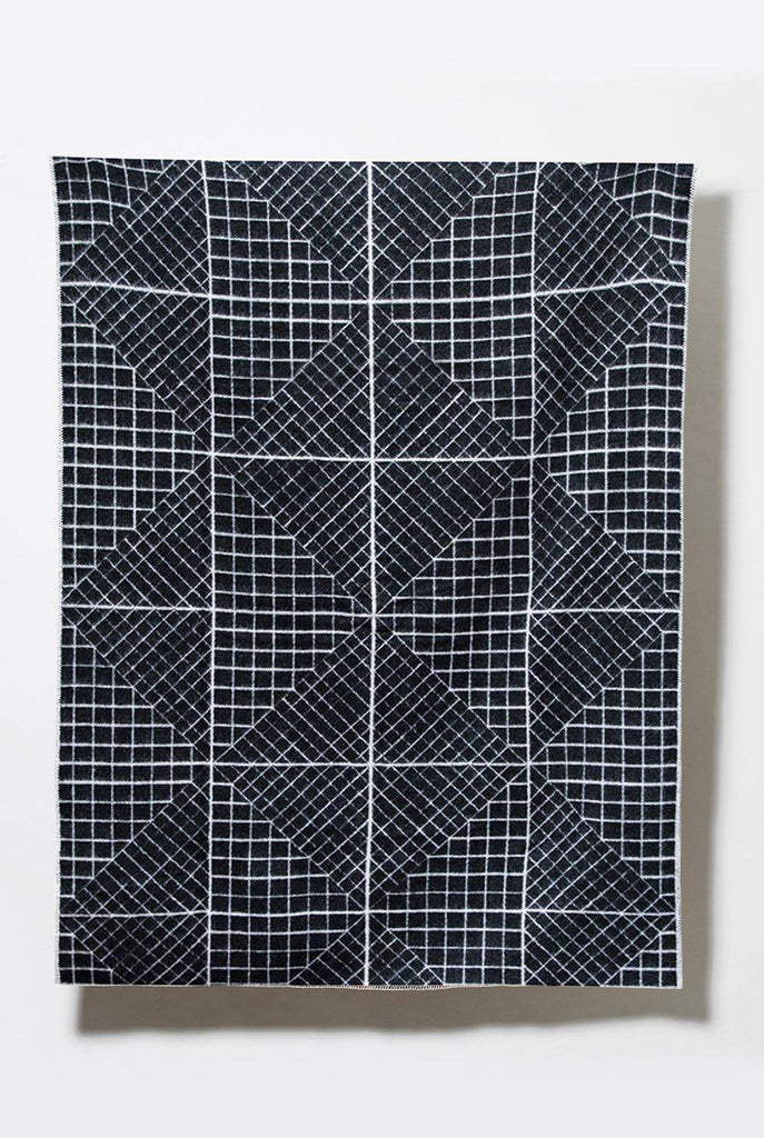 Graph New Zealand Wool Blanket by Moonish - ZigZagZurich  - 1