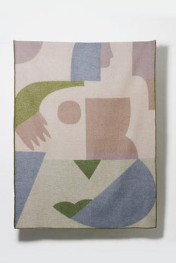 Artist Wool Blankets - Lady Geometry Wool Blanket By Kit Agar