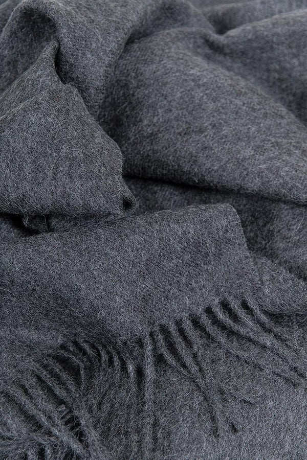 Baby Alpaca Throws - Anthracite XL Baby Alpaca Throws & Shawls 200cm / 78""