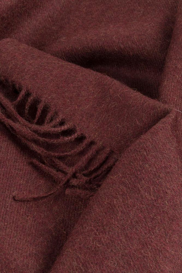 Baby Alpaca Throws - Bordeaux  XL Baby Alpaca Throws & Shawls 200cm / 78""