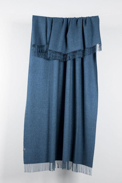 Denim Blue XL Baby Alpaca Throws & Shawls 200cm / 78