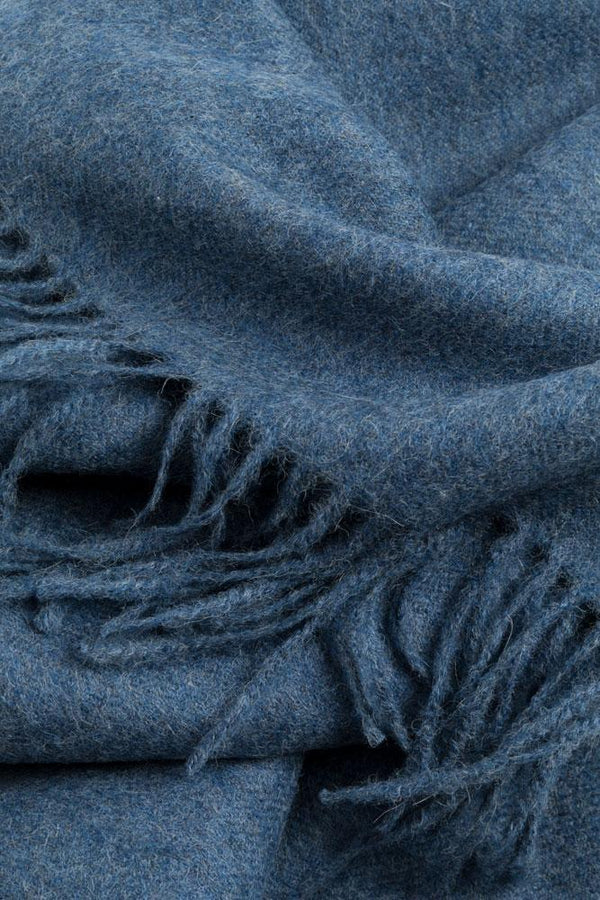 Baby Alpaca Throws - Denim Blue XL Baby Alpaca Throws & Shawls 200cm / 78""