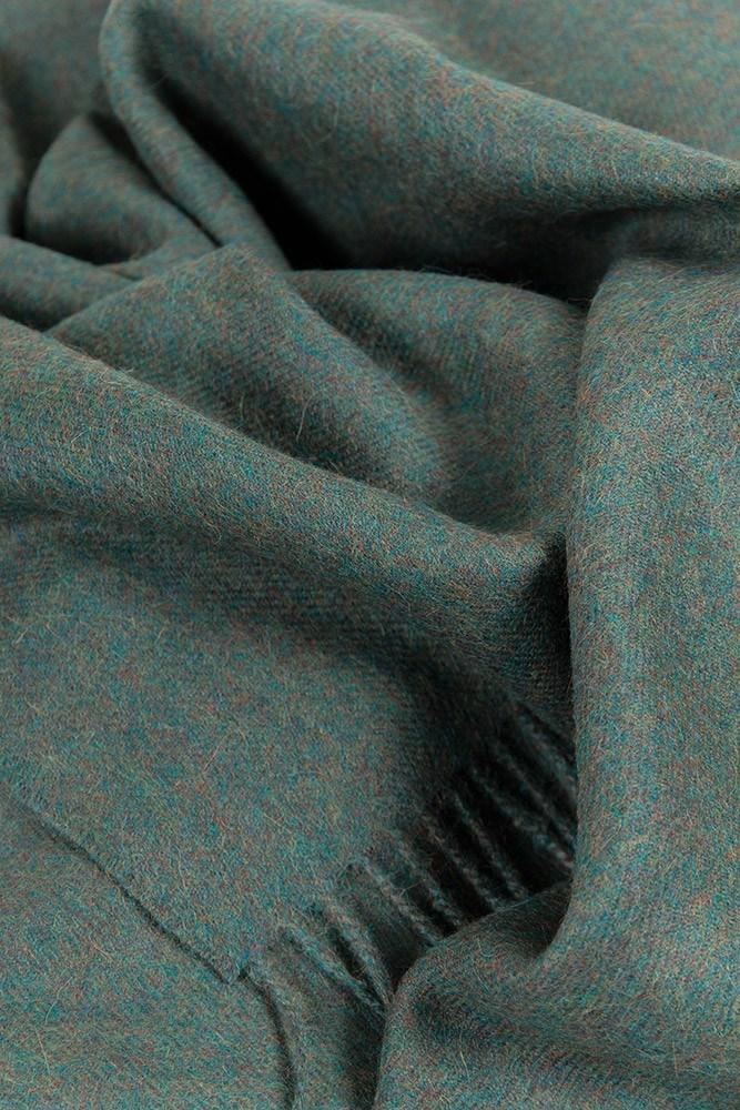Baby Alpaca Throws - Green Melange  XL Baby Alpaca Throws & Shawls 200cm / 78""