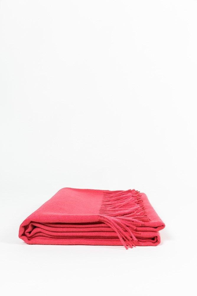 "Raspberry XL Baby Alpaca Throws & Shawls 200cm / 78"" - ZigZagZurich  - 1"