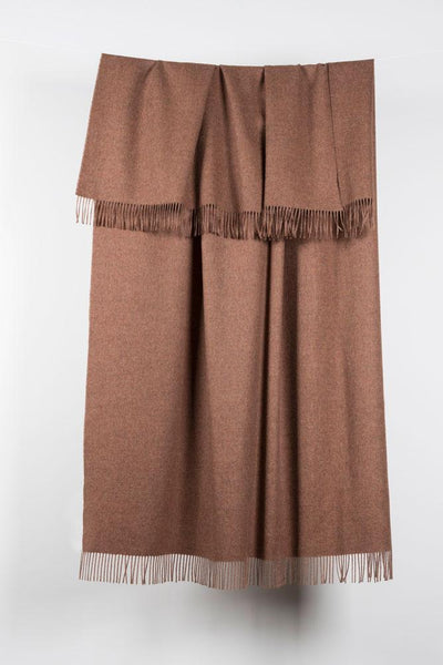 "Rust Brown XL Baby Alpaca Throws & Shawls 200cm / 78"" - ZigZagZurich  - 1"