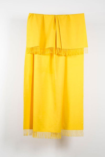 "Yellow XL Baby Alpaca Throws & Shawls 200cm / 78"" - ZigZagZurich  - 1"