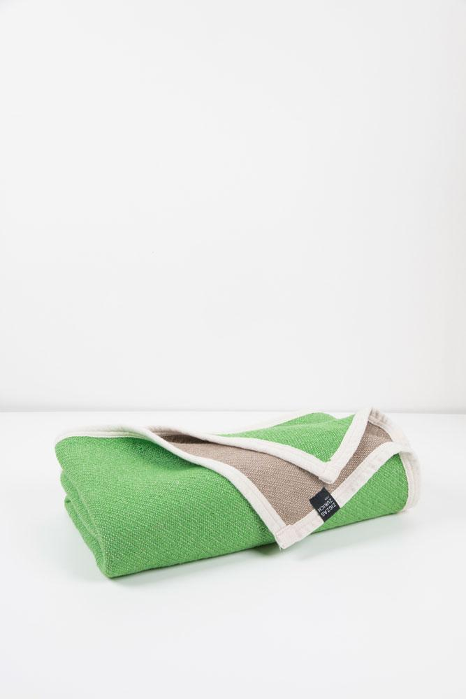 Beach Towels / Mini Blankets - Beached Cotton Beach Towels / Mini Blankets - Copacabana Green / Clay