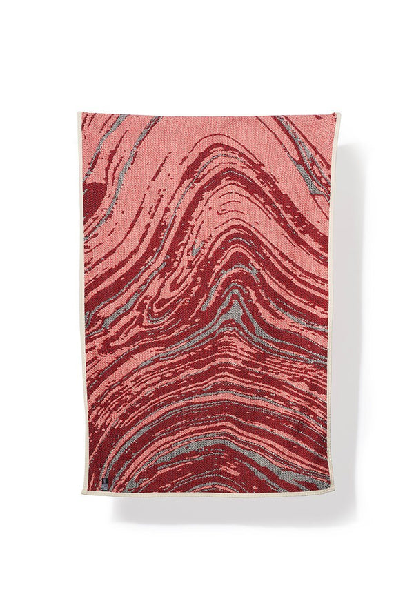 Beach Towels / Mini Blankets - Carrara Col. Red / Blue - Cotton Beach Towels / Mini Blankets - By Sophie Probst & Michele Rondelli