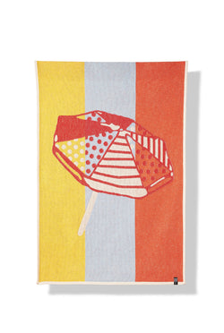 Beach Towels / Mini Blankets - Parasol Del Playa Cotton Beach Towels / Mini Blankets - By Michele Rondelli