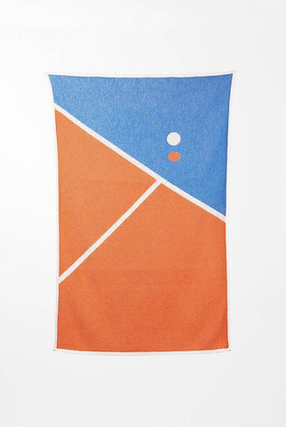 Tennis 1 Cotton Beach Towels / Mini Blankets by Gabriel Nazoa