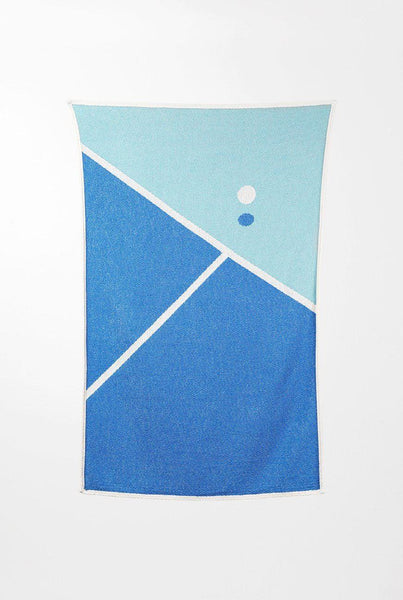 Beach Towels / Mini Blankets - Tennis 2 Cotton Beach Towels / Mini Blankets By Gabriel Nazoa
