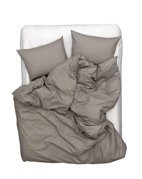 Cashmere Cotton Duvet Covers / Pillows - Grey