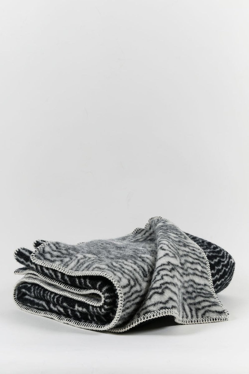 CoopDPS Wool Blankets - CoopDPS Earth Wool Throws & Blankets - Black And White
