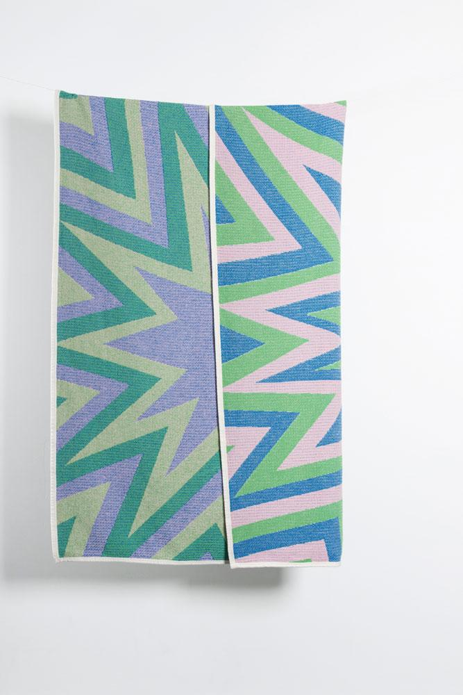 Cotton Blankets & Throws - BANG! Artist Cotton Blankets & Throws By Liz Collins  - Green