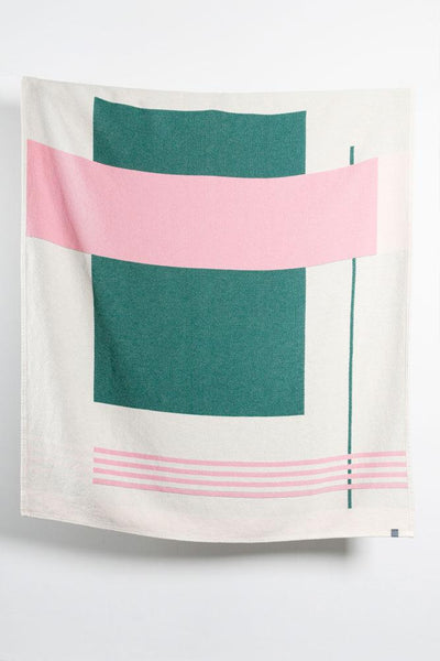 Cotton Blankets & Throws - Modernista Artist Cotton Blankets / Throws By Michele Rondelli - Green Rose
