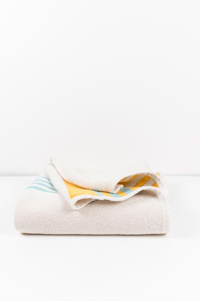 Cotton Blankets & Throws - Modernista Artist Cotton Blankets / Throws By Michele Rondelli - Yellow Turkis