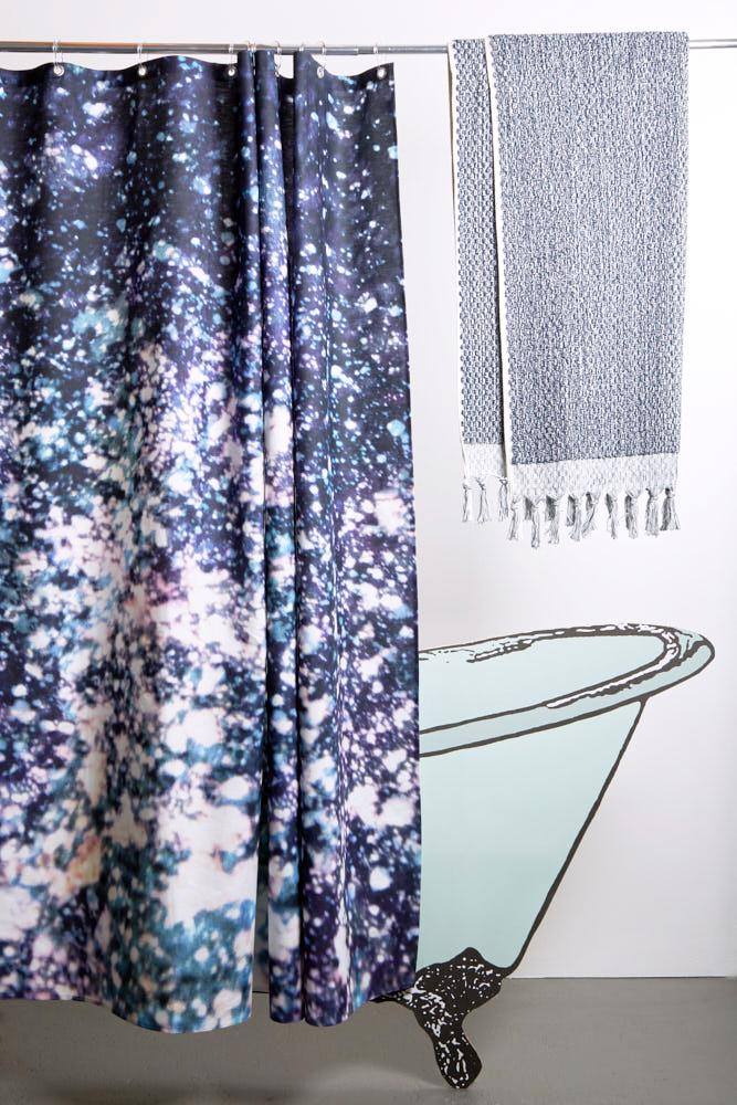 Cotton Shower Curtains - Asleep In The Stars Artist Cotton Shower Curtain ( Waterproof ) By Carmen Boog