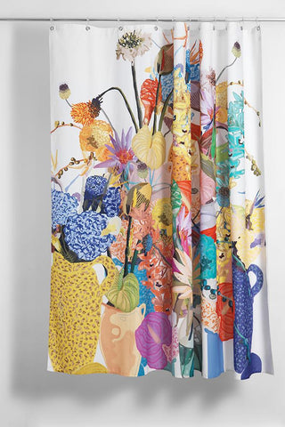 Blossom Artist Cotton Shower Curtain ( Waterproof ) by Sophie Probst