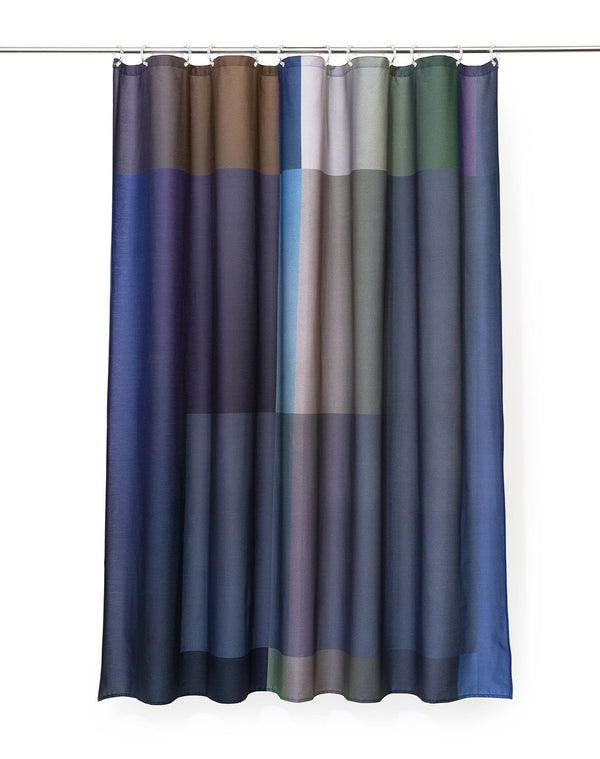 Cotton Shower Curtains - Collage Two Artist Cotton Shower Curtain ( Waterproof ) By Celine Cornu