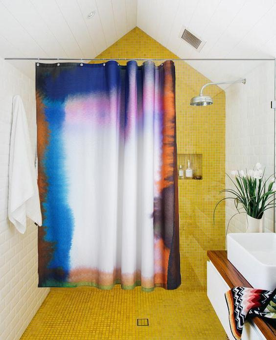 Cotton Shower Curtains - Heep Artist Cotton Shower Curtain ( Waterproof ) By Julia Heuer