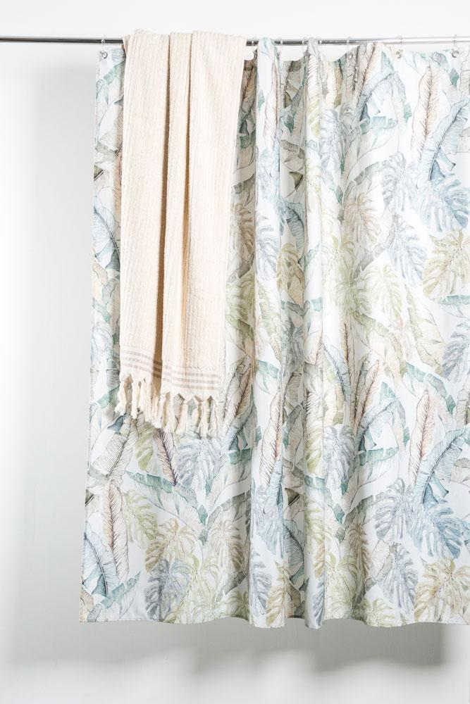 Cotton Shower Curtains - Jungled Artist Cotton Shower Curtain ( Waterproof ) By Sophie Probst