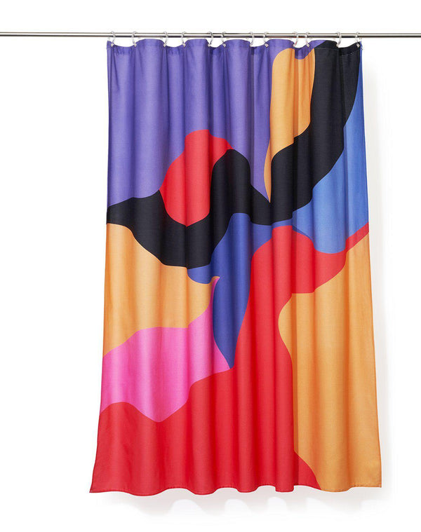 Cotton Shower Curtains - Kite Artist Cotton Shower Curtain ( Waterproof ) By Katja Sandström