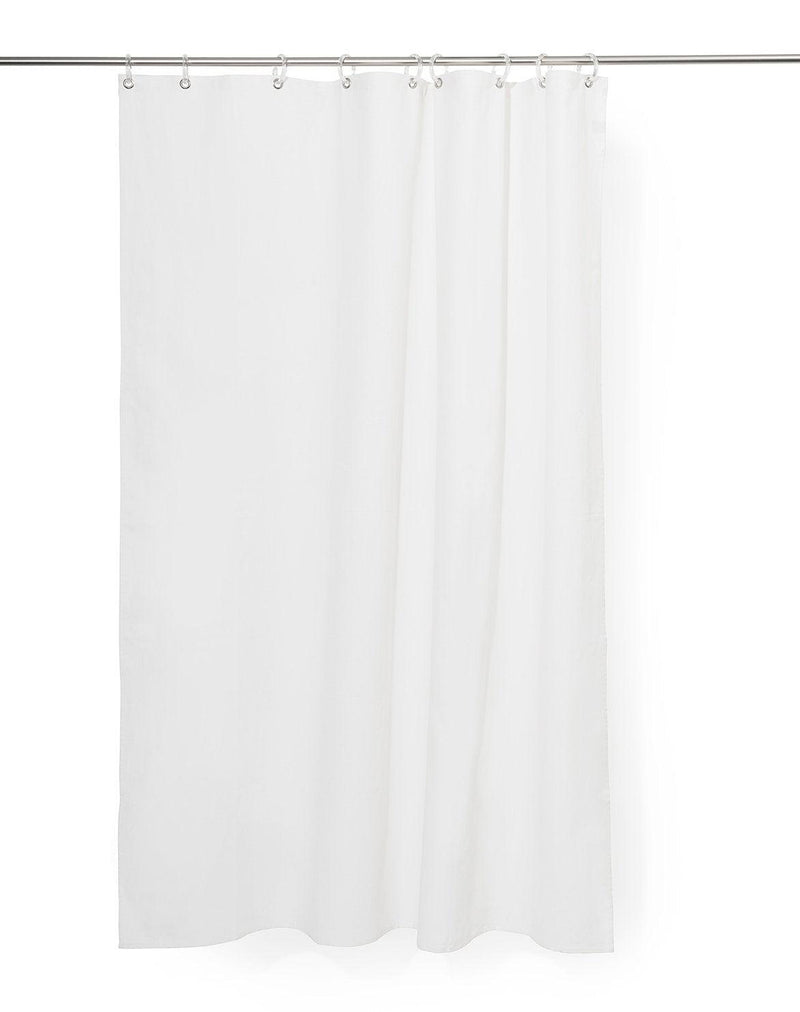 Duschvorhaenge Cotton Shower Curtains - Plain White Panama Cotton Shower Curtain ( Waterproof )
