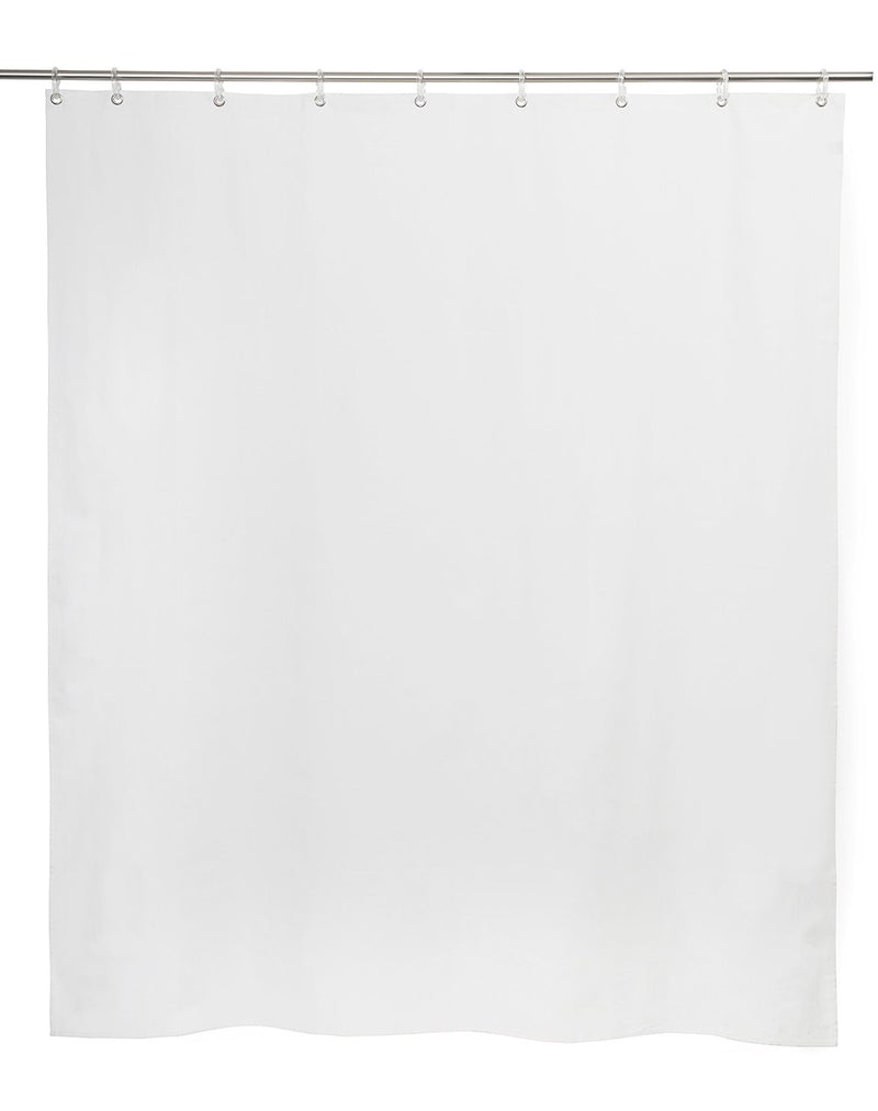 Cotton Shower Curtains - Plain White Panama Cotton Shower Curtain ( Waterproof )