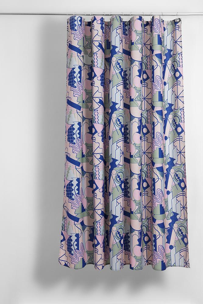 PoMo Artist Cotton Shower Curtain Waterproof By Sophie Probst