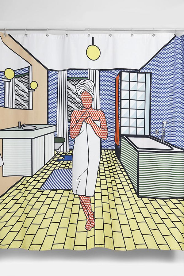 Cotton Shower Curtains - Roy`Ally Clean Artist Cotton Shower Curtain ( Waterproof ) By Sophie Probst