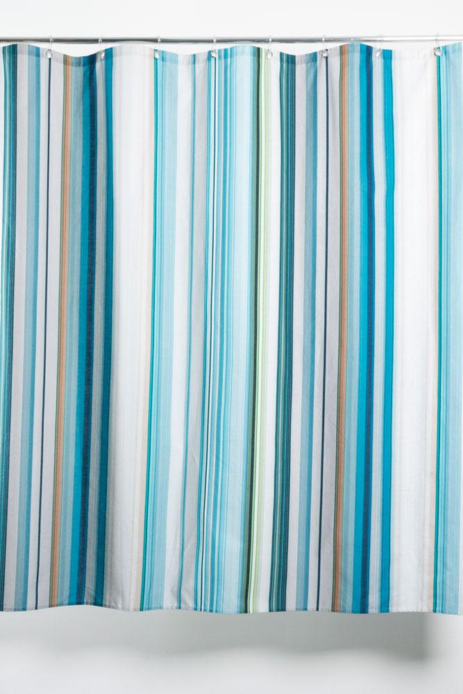 Cotton Shower Curtains - Stripe Tease 41 Artist Cotton Shower Curtain ( Waterproof ) By Michele Rondelli