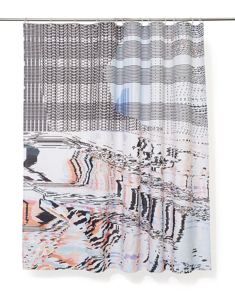 Cotton Shower Curtains - Syntax Artist Cotton Shower Curtain ( Waterproof ) By Laura Knoops
