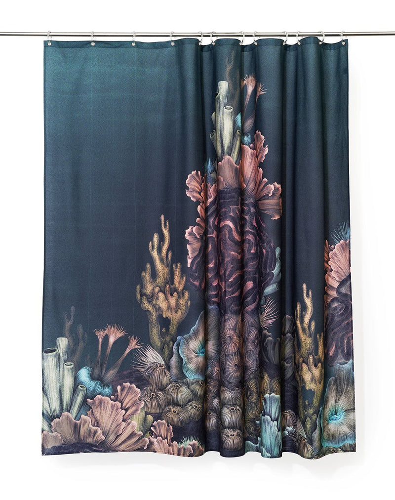 Cotton Shower Curtains - The Aquarium Artist Cotton Shower Curtain ( Waterproof ) By Karina Eibatova